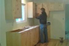 Scott installing Hilltop kitchen