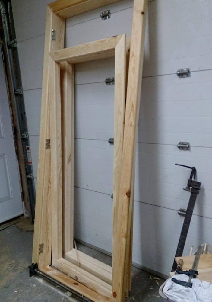 b8c9df373dd Building new door frames - Glen Echo Cottages