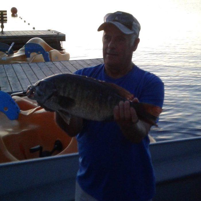 Huge Smallmouth Bass Sabino group July 2018