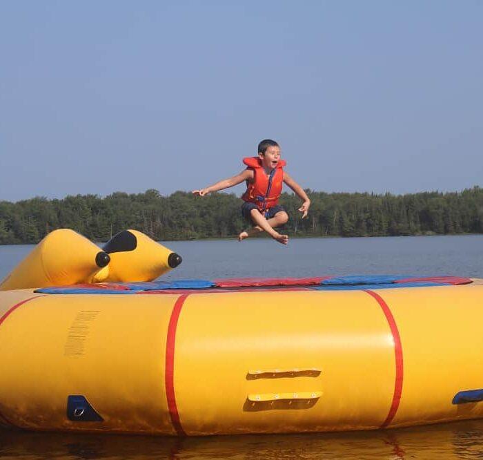 Water trampoline fun