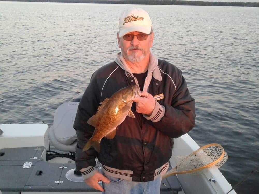 Smallmouth Bass caught on Lake Nipissing
