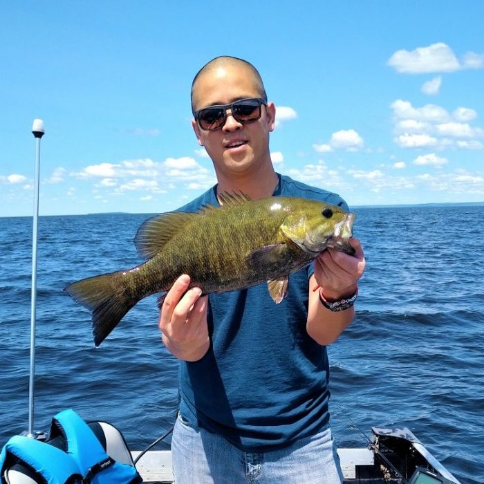 44 cms Smallmouth Bass caught June 22, 2019