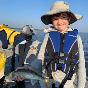 Kids fishing Lake Nipissing